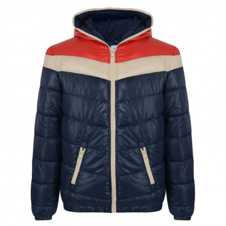 55 Soul Shiny Hooded Italy Jacket Red Blue Image