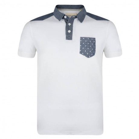 Conspiracy Rayful Polo Pique T-Shirt White Image