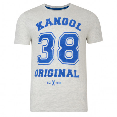 Kangol Original 38 Crew Neck Logo T-shirt Ecru Image