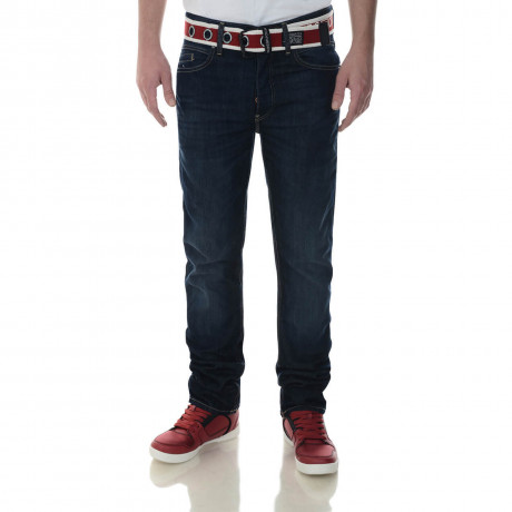 Crosshatch Straight Fit Oklahoma Jeans Faded Dark Wash Image