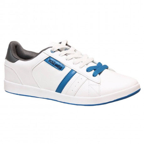 Ecko Low Sneaker Trainers White Blue Image