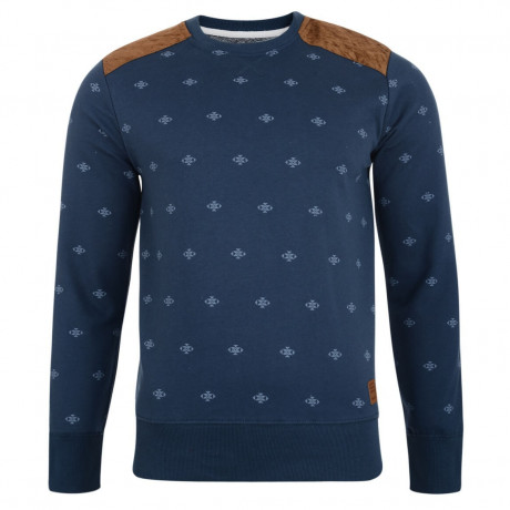 Smith & Jones Crew Sweatshirt Navy Blue Image