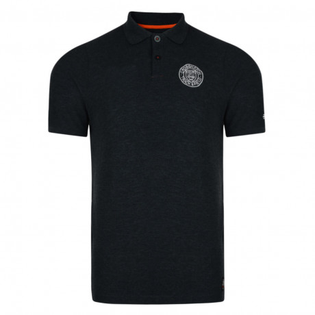 Crosshatch Kyston Polo Pique T-Shirt Charcoal Marl Image