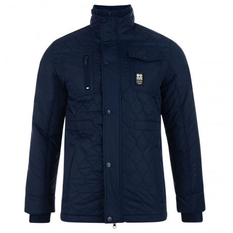 Crosshatch Quilted Jacket Navy Blue Image
