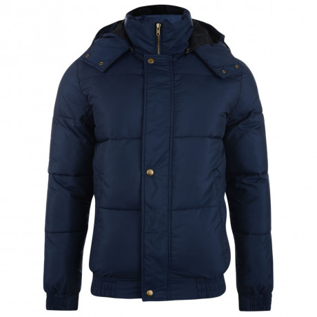 Blend Hooded Padded Jacket Navy Blue Image