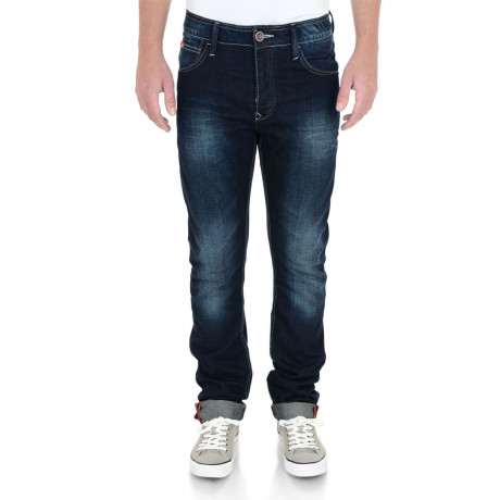 Lee Cooper Straight Fit Harry Jeans Faded Dark Wash Blue Image