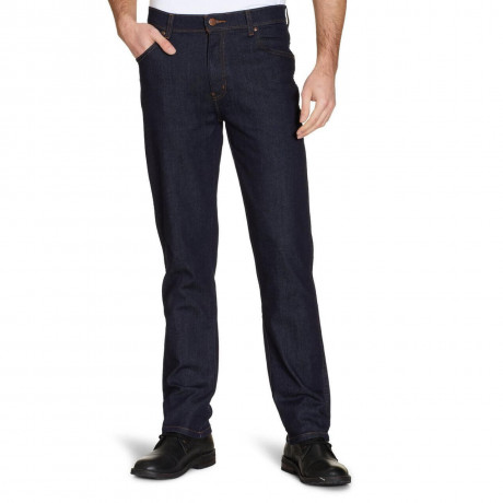 Wrangler Texas Stretch Denim Jeans Rinse Blue Darkstone Image