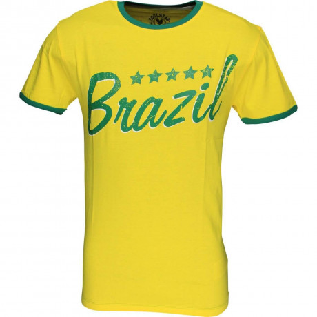 Soul Star Brazil Signature T-shirt Yellow Green Image
