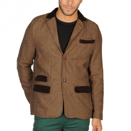 Soul Star Fashion Blazer Jacket Brown Image