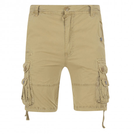 Soul Star Casual Cargo Bermuda Shorts Stone Image
