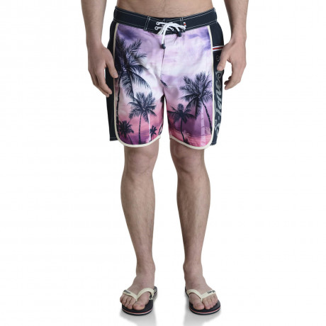 Smith & Jones Beach Swim Shorts & Flip Flop Set Kokomo Navy Pink Image