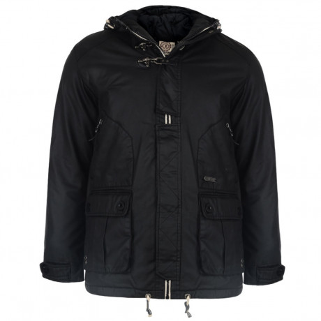 Soul Star Pallett Hooded Padded Jacket Black Image