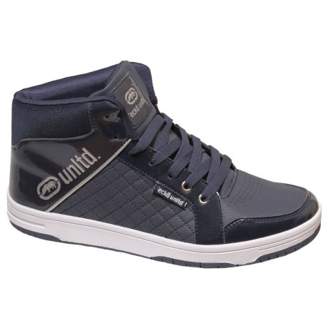 Ecko High Top Trainers Navy Blue Image
