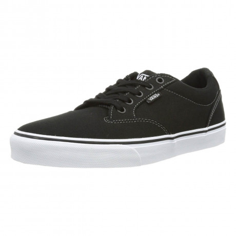 Vans Winston Canvas Trainers Black White Image
