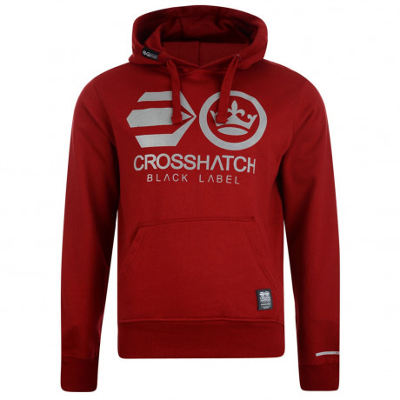 Crosshatch Olivas Logo Hooded Sweatshirt Chili Red Image