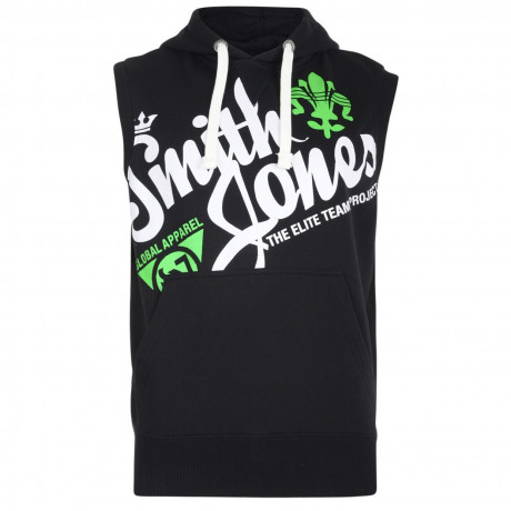Smith & Jones Sleeveless Hoodie Black Image