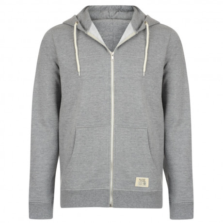 Blend Zip Up Hoodie Top Light Grey Image