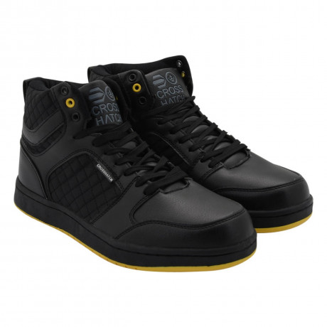 Crosshatch High Top Trainers Black Image
