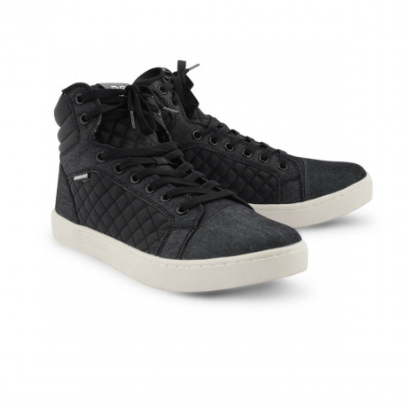 Crosshatch High Top Canvas Shoes Black Image