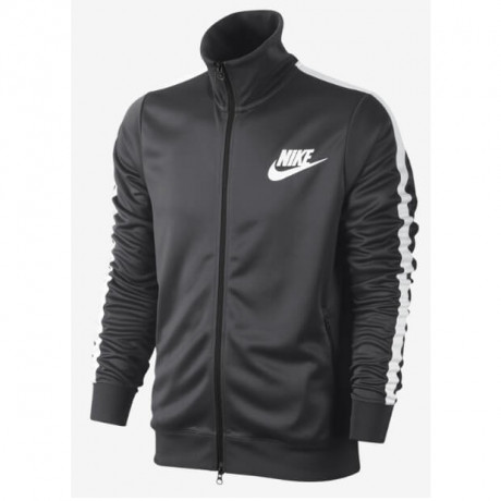 Nike Retro Tribute Track Jacket Top Black Image