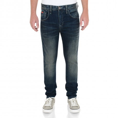 Lee Cooper Tapered Fit Slim Norris Jeans Faded Mid Wash Blue Image