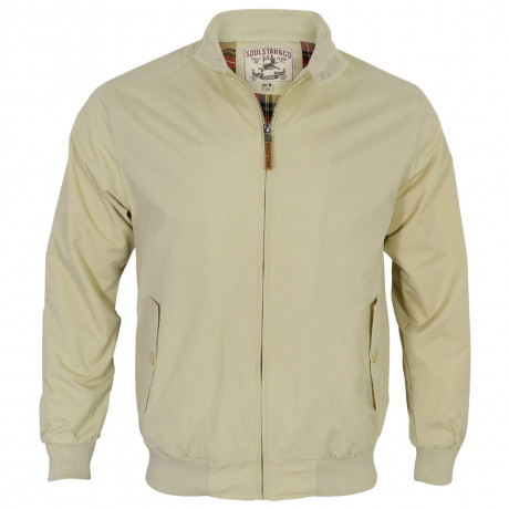 Soul Star Harrington Jacket Beige Image