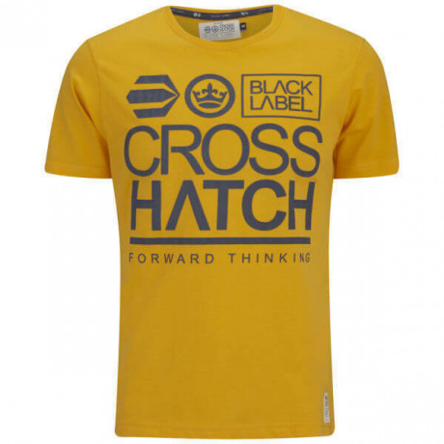 Crosshatch Printed Large Go Logo T-shirt Yellow Image