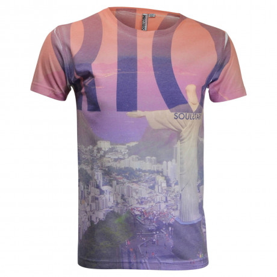 Soul Star Rio Christ Redemer Print T-shirt Image