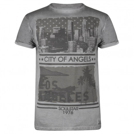 Soul Star Print T-shirt City of Angels Grey Image