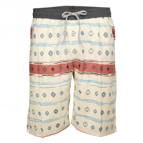 Soul Star Casual Summer Printed Shorts Beige Ecru Image