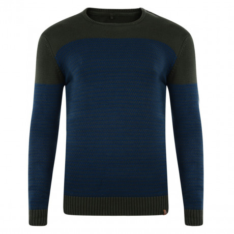 Blend Crew Neck Knitted Pullover Duffel Green Blue Image