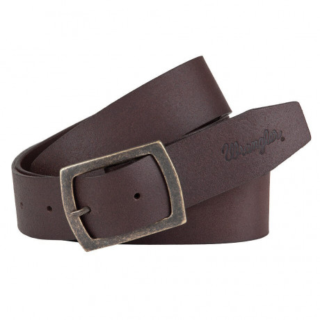 Wrangler Leather Central Bridge Buckle Belt Brown Beige Image