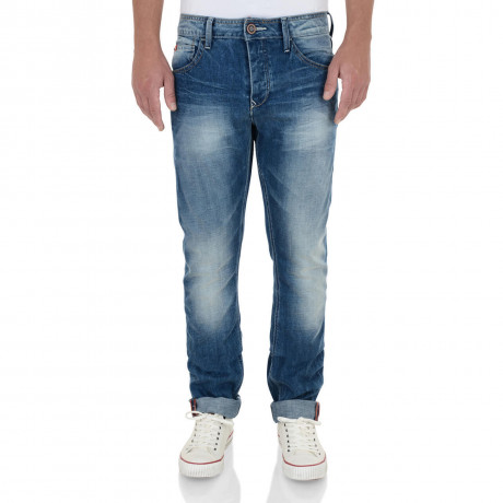 Lee Cooper Straight Fit Harry Jeans Faded Light Wash Blue Image