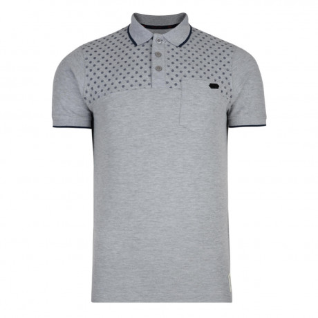 Crosshatch Bantex Polo Pique T-Shirt Grey Marl Image