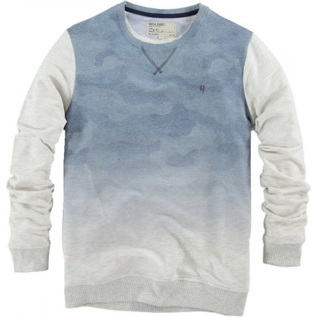 Garcia Sky Print Sweatshirt Light Grey Image