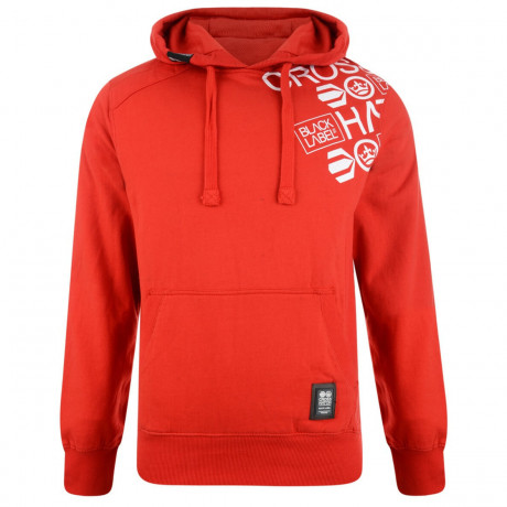 Crosshatch Millhouse Logo Hooded Sweatshirt Risk Red Image