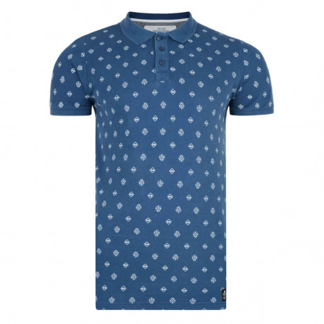 Crosshatch Repeater Polo Pique T-Shirt Ensign Blue Image