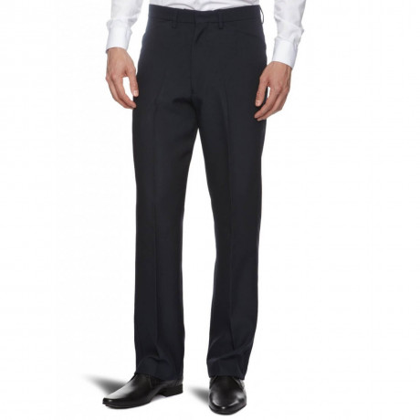 Farah Hopsack Trousers Navy Blue Image