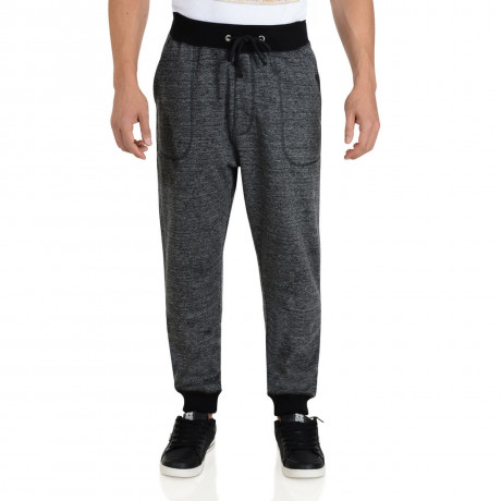 Soul Star Fleece Sweat Pants Black Bottoms Image