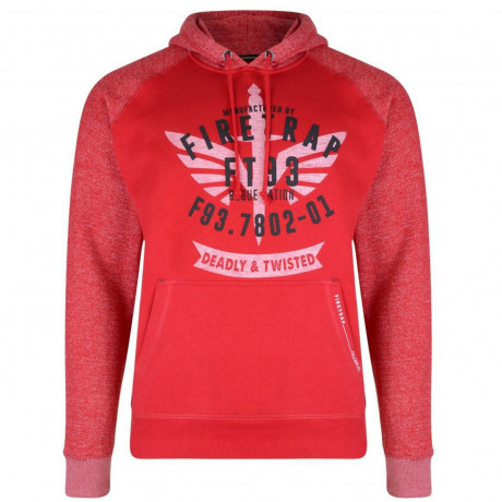Firetrap Talfourd Hoodie Red Image