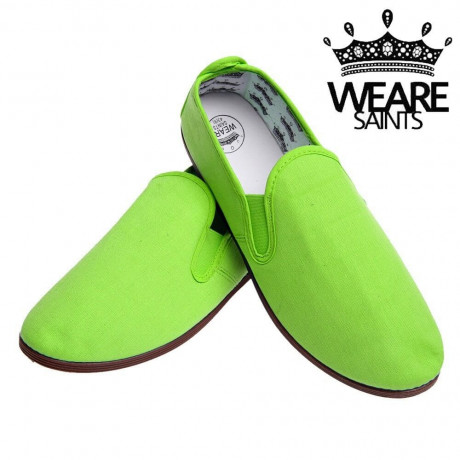 We Are Saints Canvas Shoes Espadrilles Plimsolls Green Image