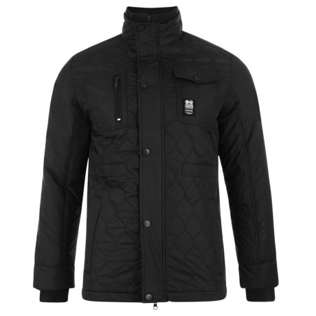 Crosshatch Quilted Jacket Black Image