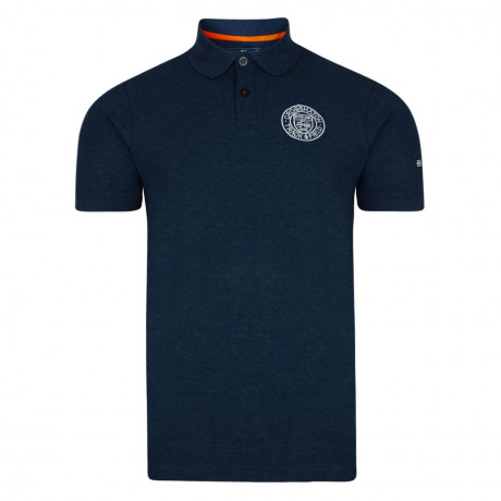 Crosshatch Kyston Polo Pique T-Shirt Navy Blue Marl Image
