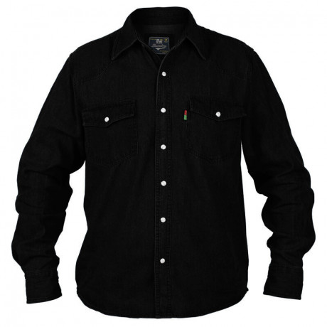 Duke Black Denim Shirt Image