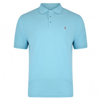 Farah Polo Pique T-Shirt China Blue Image