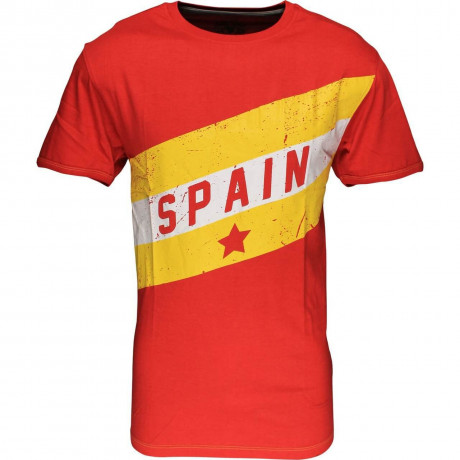 Soul Star Spain Flag T-shirt Red Image