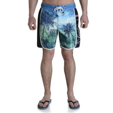 Smith & Jones Beach Swim Shorts & Flip Flop Set Kokomo Green Blue Image