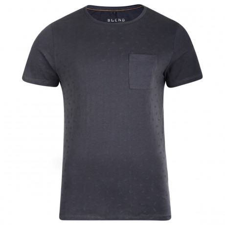 Blend Crew Slim Fit T-shirt India Ink Grey Image