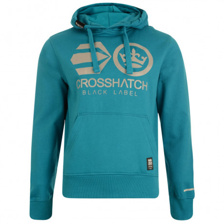 Crosshatch Olivas Logo Hooded Sweatshirt Carribean Sea Image
