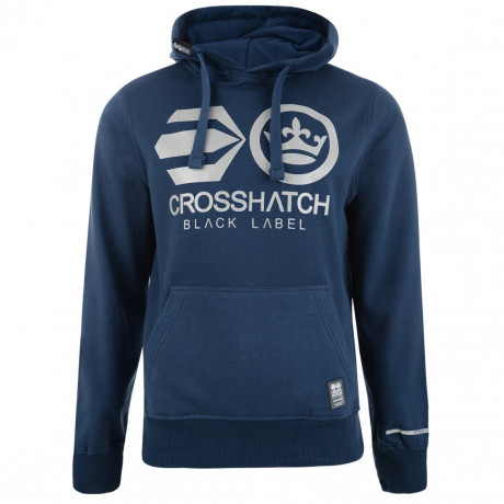 Crosshatch Olivas Logo Hooded Sweatshirt Blue Wing Image